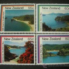 Sellos: NUEVA ZELANDA 1986 IVERT 928/31 *** TURISMO (I) - PAISAJES MARITIMOS. Lote 26052802