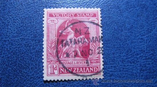 1919 NUEVA ZELANDA, ANIVERSARIO DE LA VICTORIA, YVERT 170 (Sellos - Extranjero - Oceanía - Nueva Zelanda)