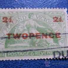 Sellos: 1922 NUEVA ZELANDA, ANIVERSARIO DE LA VICTORIA, SOBRECARGADO, YVERT 175 . Lote 29713369
