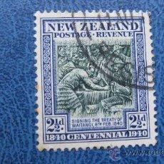 Sellos: 1940 NUEVA ZELANDA,CENTENARIO SOBERANIA BRITANICA, YVERT 247. Lote 29723421