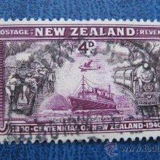 Sellos: 1940 NUEVA ZELANDA,CENTENARIO SOBERANIA BRITANICA, YVERT 249. Lote 29723482