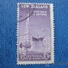 Sellos: 1947 NUEVA ZELANDA, CENTENARIO DE OTAGO, YVERT 299. Lote 29728498