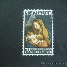 Timbres: NUEVA ZELANDA 1966 IVERT 440 *** NAVIDAD - PINTURA - LA VIRGEN Y EL NIÑO DEL MUSEO DE VIENA. Lote 32410099