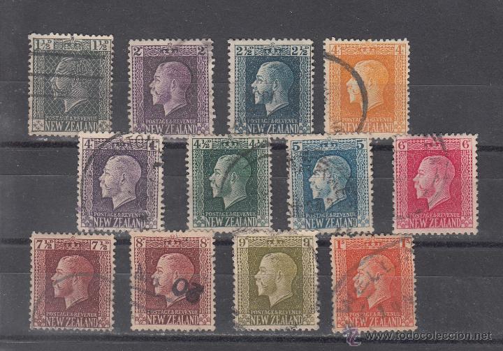 NUEVA ZELANDA 148/9,151,153/7,159/61,155A USADA, GEORGE V (Sellos - Extranjero - Oceanía - Nueva Zelanda)