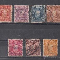 Sellos: NUEVA ZELANDA 137/43 USADA, EDUARDO VII . Lote 43527326