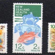 Sellos: NUEVA ZELANDA AÑO 1979 YV 746/48*** PRO OBRAS PARA LA SALUD INFANTIL - FAUNA MARINA - PECES. Lote 45269570