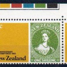 Sellos: NUEVA ZELANDA AÑO 1980 YV 760/62*** 125 ANVº DEL SELLO NEOZELANDÉS - SELLO SOBRE SELLO - FILATELIA. Lote 45269847