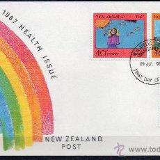 Sellos: NUEVA ZELANDA AÑO 1987 YV 964/66*** SPD - PRO SALUD - DIBUJOS INFANTILES - NIÑOS. Lote 45270421