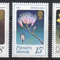 Sellos: ISLAS PITCAIRN NUEVA ZELANDA AÑO 1973 YV 128/32*** FLORES DE ARBUSTOS - FLORA - NATURALEZA. Lote 45472090