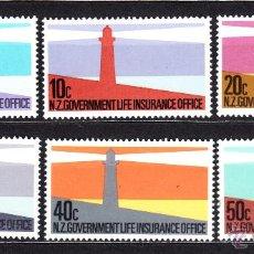 Sellos: NUEVA ZELANDA SERVICIO 139/44** - AÑO 1981 - FAROS. Lote 47354237