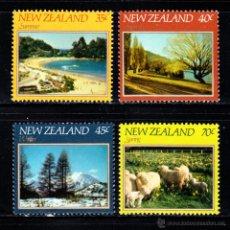 Sellos: NUEVA ZELANDA 815/18** - AÑO 1982 - PAISAJES DE NUEVA ZELANDA. Lote 147659957