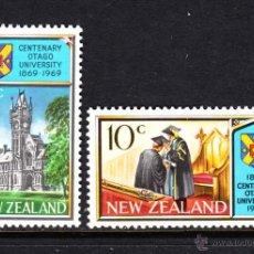 Sellos: NUEVA ZELANDA 483/84** - AÑO 1969 - CENTENARIO DE LA UNIVERSIDAD DE OTAGO. Lote 47844199