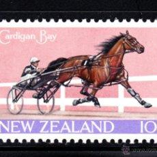 Sellos: NUEVA ZELANDA 500** - AÑO 1970 - HÍPICA - CARRERA DE TROTE. Lote 47844216