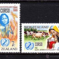 Sellos: NUEVA ZELANDA 497/98** - AÑO 1969 - 25º ANIVERSARIO DE CORSO. Lote 48149327