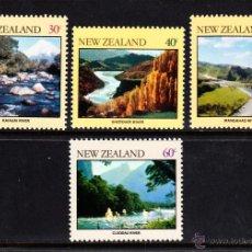 Sellos: NUEVA ZELANDA 792/95** - AÑO 1981 - TURISMO - RIOS DE NUEVA ZELANDA. Lote 126690320