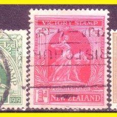 Sellos: NUEVA ZELANDA 1919 IVERT Nº 169 A 171 (O). Lote 48856008