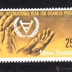 Sellos: NUEVA ZELANDA 787** - AÑO 1981 - AÑO INTERNACIONAL DEL MINUSVALIDO. Lote 133353361