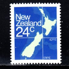 Sellos: NUEVA ZELANDA 810A** - AÑO 1982 - MAPA DE NUEVA ZELANDA . Lote 49221338