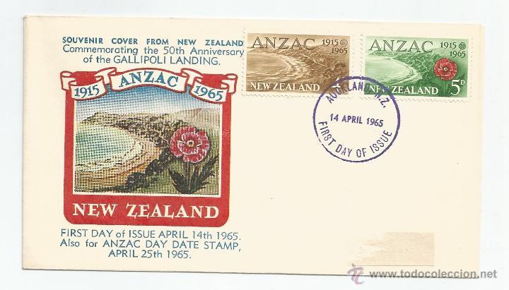 1965 - PRIMER DÍA DE CIRCULACIÓN - NUEVA ZELANDA (Sellos - Extranjero - Oceanía - Nueva Zelanda)