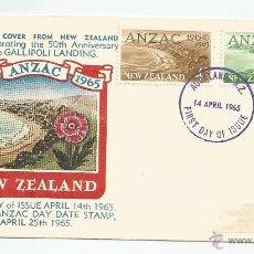 Sellos: 1965 - PRIMER DÍA DE CIRCULACIÓN - NUEVA ZELANDA. Lote 49522480