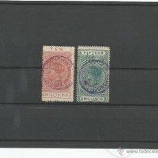 Sellos: 1882-1914 - SELLOS FISCALES EFIGIE REINA VICTORIA - NUEVA ZELANDA. Lote 49928201