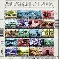 Sellos: NUEVA ZELANDA 2006 75TH ANNIVERSARY OF THE HAWKE'S BAY EARTHQUAKE. Lote 53375331