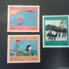 Sellos: SELLOS DE NUEVA ZELANDA. YVERT 964/6. SERIE COMPLETA NUEVA SIN CHARNELA. DIBUJOS INFANTILES. Lote 53397179