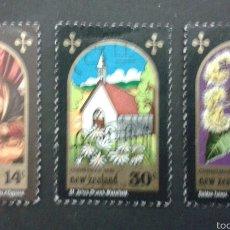 Sellos: SELLOS DE NUEVA ZELANDA. NAVIDAD. YVERT 801/3. SERIE COMPLETA USADA.. Lote 53403192