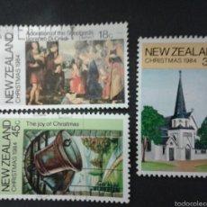Sellos: SELLOS DE NUEVA ZELANDA. NAVIDAD. YVERT 879/81. SERIE COMPLETA USADA.. Lote 53403212