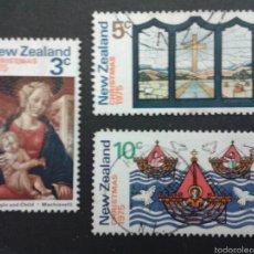 Sellos: SELLOS DE NUEVA ZELANDA. NAVIDAD. YVERT 642/4. SERIE COMPLETA USADA.. Lote 53403290