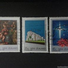 Sellos: SELLOS DE NUEVA ZELANDA. NAVIDAD. YVERT 851/3. SERIE COMPLETA USADA.. Lote 53408353