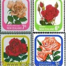 Sellos: NUEVA ZELANDA 1975 1979 NUEVO SERIE FLORES ROSAS MNH *** SC. Lote 54653664
