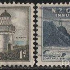 Sellos: NUEVA ZELANDA. 1947.(16-381) GOBIERNO . SEGUROS DE VIDA. FAROS *.MH. Lote 57081257