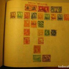 Sellos: LAMINA CON SELLOS ANTIGUOS DE NUEVA ZELANDA. Lote 64297895