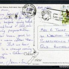 Sellos: POSTA CIRCULADA 1994. NUEVA ZELANDA, LAKE TARAWERA. SELLO MUNDO DE LOS INSECTOS MARIPOSA. Lote 72304899