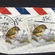 Sellos: NUEVA ZELANDA - SELLOS USADOS SOBRE PAPEL. Lote 96749039