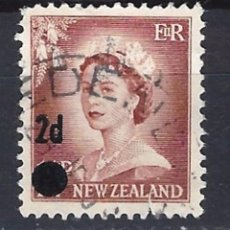 Sellos: NUEVA ZELANDA / COLONIA BRITANICA - SELLO USADO SOBRECARGADO. Lote 105459099