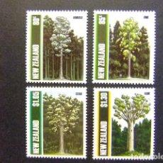 Sellos: NUEVA ZELANDA NOUVELLE ZELANDE 1989 FLORA LOS ARBOLES LES ARBRES YVERT 1034 / 1037 ** MNH. Lote 106669571