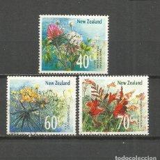 Sellos: NUEVA ZELANDA CONJUNTO DE FLORES SALVAJES YVERT NUM. 1019/1021 USADOS. Lote 108375527