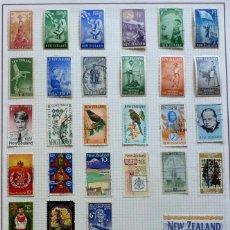 Sellos: NUEVA ZELANDA - 122 SELLOS, USADOS, DIFERENTES. Lote 116361531