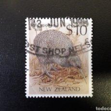 Sellos: NUEVA ZELANDA. YVERT 1027. SERIE COMPLETA USADA. FAUNA. AVES.. Lote 118829207