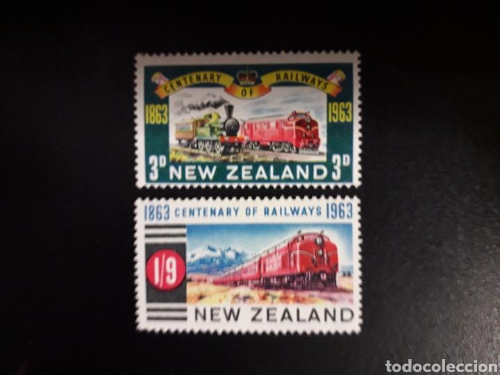 NUEVA ZELANDA. YVERT 417/8. SERIE COMPLETA NUEVA CON CHARNELA. TRENES (Sellos - Extranjero - Oceanía - Nueva Zelanda)