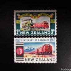Sellos: NUEVA ZELANDA. YVERT 417/8. SERIE COMPLETA NUEVA CON CHARNELA. TRENES. Lote 118958494