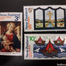 Sellos: NUEVA ZELANDA. YVERT 642/4. SERIE COMPLETA NUEVA SIN CHARNELA. NAVIDAD. Lote 118958756