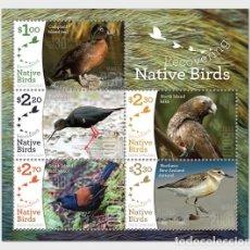 Sellos: NEW ZEALAND 2017 - RECOVERING NATIVE BIRDS SHEET MNH. Lote 119303987
