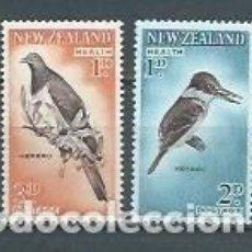Sellos: NUEVA ZELANDA,AVES,1960,NUEVOS,MNH**,YVERT 402-403. Lote 122738638