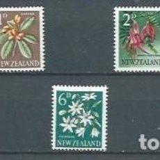 Timbres: NUEVA ZELANDA,FLORES,SERIE GENERAL,1960,NUEVOS,MNH**,YVERT 384-390. Lote 126220163