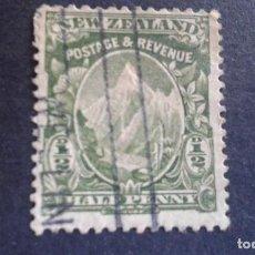 Sellos: NEW ZEALAND,NUEVA ZELANDA,1902,MONTE COOK,SCOTT 107,DENTADO 14,FILIGRANA 61,USADO,(LOTE AG). Lote 130830148