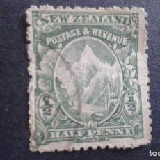 Sellos: NEW ZEALAND,NUEVA ZELANDA,1902,MONTE COOK,SCOTT 107,DENTADO 14,FILIGRANA 61,USADO,(LOTE AG). Lote 130830276