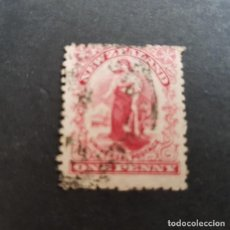 Sellos: NUEVA ZELANDA,NEW ZEALAND,1902-1907,ALEGORÍA DEL COMERCIO,SCOTT 108,FILIGRANA 61,USADO,(LOTE AG). Lote 130905928